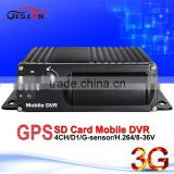 3G 4CH G-sensor Vehicle Blackbox Dvr User Manual Car Mobile Dvr Support Real Time Video Monitor ,Real Time GPS Track
