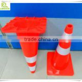 Lowest price stable quality Red & White flexible PVC traffic cone