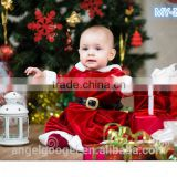 baby clothes one-piece christmas chevron girls dresses festival clothing with belt MY-IA0006