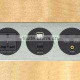 High-end Aluminium HDMI Wall Socket Plates with USB, VGA and Network