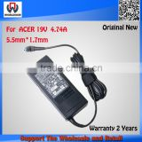 New Genuine Laptop AC Adapter For Acer 19V 4.74A 90W Battery Charger for Acer 4925 4930 5520 4750g 5820
