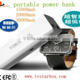 large capacity 4-core smart chip 30000mah portable power bank led torch light portable power bank