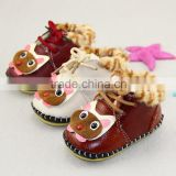 2015 new children baby winter shoes children Baby Toddler Soft Bottom pure handmade leather shoes