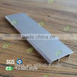 Brushed silver waterproof aluminum cover skirting board