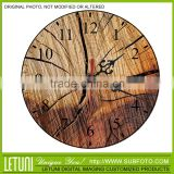 Wooden wall mounted clock shop decoration
