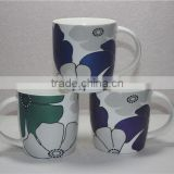 Wholesale flower shape printed chinese porcelain tea cup