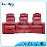 2016 red leather cinema reliner sofa set 3 seats a line C-T16                                                                         Quality Choice