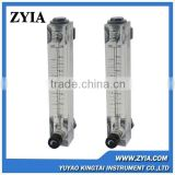 LZM-15JT liquid 8lpm panel water acrylic mounted flowmeters in china