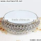 Wholesale Silver crystal wedding cake stand,bowl shaped decorative cake stand for wedding cake for wedding decoration(CAKE-014)                                                                         Quality Choice