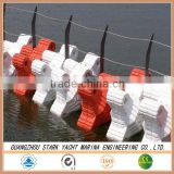 Durable plastic floating boom