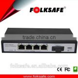 10/100M ethernet fiber port poe switch w/1*9 single port dual fiber SC port w/20km module inside