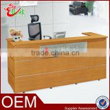 modern elegant popular melamine with aluminum office reception table reception desk office furniture front table counter table