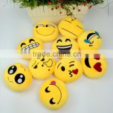 wholesale super soft pp cotton stuffed emoji pillow round cute lovely children promotion gifts decoration keychain toys