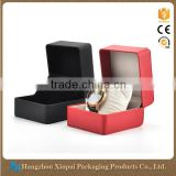 Wholesale Custom Logo Printed Red/Black Cheap Single Watch Storage Box                                                                         Quality Choice