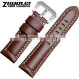 Brown Black Calfskin Genuine Leather Wide Watch Bracelet For Men 22mm 24mm 26mm Wholesale 3PCS