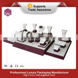 Wooden Luxury Jewelry Counter Display For Diamond Jewelry Showcase