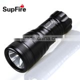 SupFire D5 professional diving torch light, XML U2 LED diving flashlight 1000lumen, use 3*AA batteries