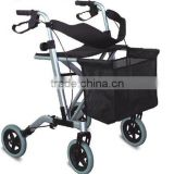 Rehabilitation Thera High end lightweight foldable aluminium ligh weight rollator walker 4 wheel folding rollator walker