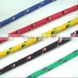 Supply colored diamond Braided Polypropylene with poly plastic rope