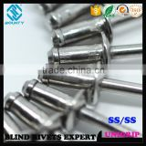 QUALITY FACTORY HIGH SHEAR AND TENSILE STRENGTH 316 STAINLESS STEEL UNI-GRIP BLIND POP RIVETS