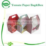Custom Decorative Cardboard Candy Packaging Paper Chocolate Cake Boxes Wholesale With Window