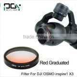 Red Gradual color graduated filter Lens for DJI OSMO inspire1 X3 Gimbal Camera UAV drone accessories