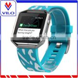 Chinese Factory Wholesale Accessory Rubber Watch Band for Fitbit Blaze, Replacement Band For Fitbit Blaze
