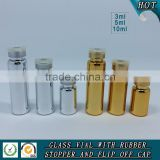 3ML 5ML 10ML Gold and silver UV plating glass tube bottle                                                                         Quality Choice
