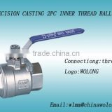 SS304/316L Stainless Steel two-piece type ball Valve