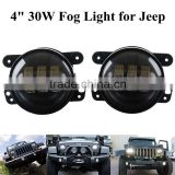 "30W High Power 4"" Round LED Fog Lights For Jeep Dodge Chrysler (Also fit many other car with 4"" fog lamp openings)"