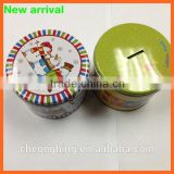 Special round metal money tin can banks