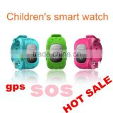 Kids position locating anti lost safety guard GPS tracker smart watch with SOS button and history route mornitoring