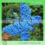 Wicker butterfly /Butterfly decorations for weddings/Handmade butterfly christmas tree ornaments