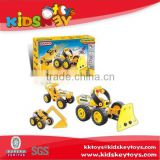 New product assemble toy intelligent diy model car toy plastic building blocks toys for kids