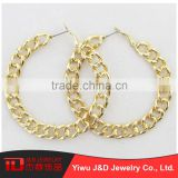Wholesale china merchandise self piercing hoop earrings