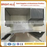 Aluminum heat sink enclosure mill finish raw ultra-thin aluminium panel radiator with factory extrusion heat sink profile