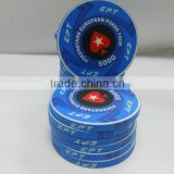 EPT DESIGN heat transfer printing ceramic poker chip ,ept design ceramic poker chip