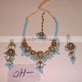 Designer Exclusive Indian Costume Fashion Imitation Jewellery ~ Artificial Gold Kundan Polki Bridal Jewellery Set