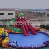 2016 QiHong hot New Inflatable Water Park games,, Bouncia Water Park Projects for sales
