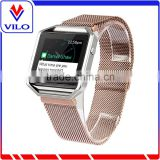 Fashion style high quality blue milanese loop leather watch strap for Fitbit Blaze