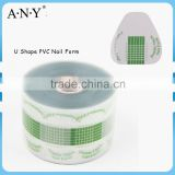 ANY Nail Art Salon Using Crystal Extension Nails Buliding Double Thick 500PCS per Roll Transparent PVC Nail Art Form U Shape