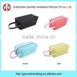 latest hot sale ladies wholesale cheap PVC plaid cosmetic bag;plaid PVC Transparent Cosmetic Bag Makeup Pouches