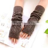 Wholesale fashion crochet knitted fingerless gloves
