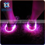 christmas Eco-friendly shoe led light for running in the dark / pink skidproof shoe clip,led shoe clip light
