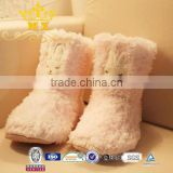 ladies new fashion faux fur winter boot snow warm boot for indoor and outdoor use