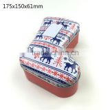 Direct factory sale boot or sock shaped gift metal christmas tin box                                                                         Quality Choice