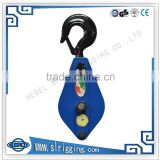 wholesale steel wire rope double Sheave Snatch Block