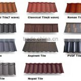 High quality stone coated metal roof tile, colorful Shingle stone coated roofing sheet building materials