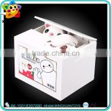 Promotional plastic custom electricity house shaped money box toys for kids
