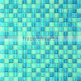 Modern house design blue glass mosaic tile, swimming pool glass mosaic, bathroom wall tiles glass (GS81504)